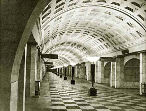 """в 1935 году станция  """"Охотный ряд """" открыта в составе первого пускового участка Московского метрополитена."""