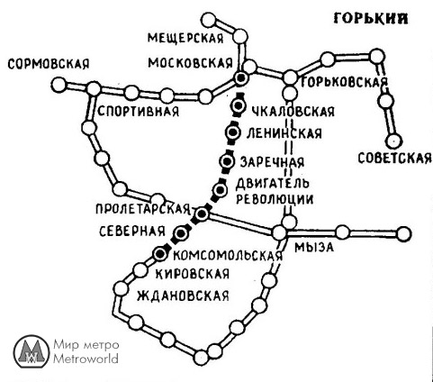 1982 - схема метро с