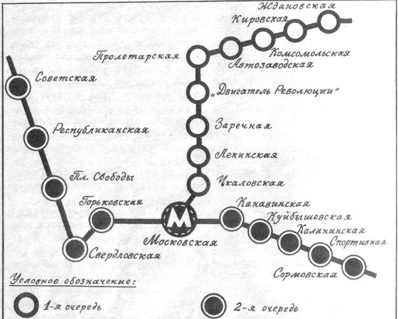 1983 - схема метро