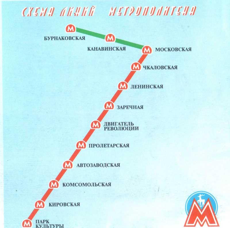 с карты транспорта Нижнего