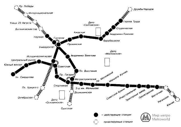 Схема Харьковского метро из