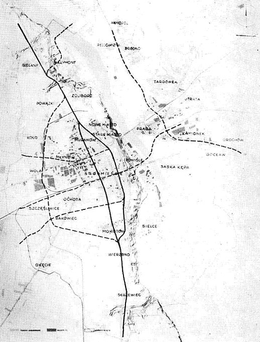 Проект Варшавского метро 1945