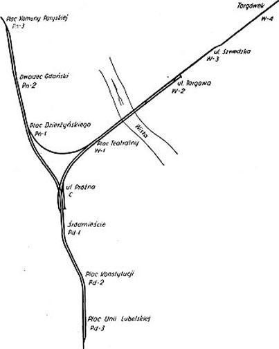 Проект Варшавского метро 1951