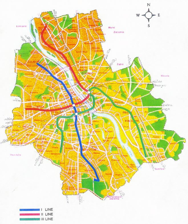 Проект Варшавского метро