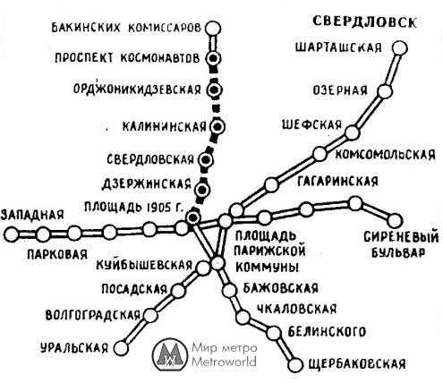 1982 - Схема планирующегося
