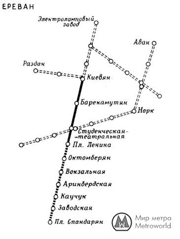 метрополитена в ереване.
